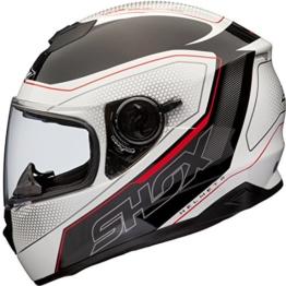 Shox Assault Tracer Integral Motorrad Helm L Weiß/Schwarz/Rot -