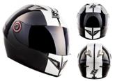 SOXON ST-666 Deluxe Snow · Helmet Sport Urban Motorrad-Helm Scooter-Helm Cruiser Integral-Helm Sturz-Helm Roller-Helm · ECE zertifiziert · inkl. Sonnenvisier · inkl. Stofftragetasche · Schwarz · XL (61-62cm) -