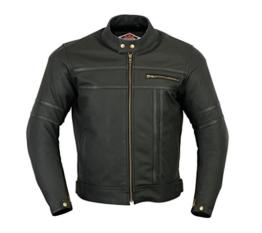Texpeed - Herren - Motorradjacke aus mattem Leder - Zweifarbig - Schwarz - 2XL - 116.84cm -