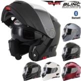 V271 BLINC VCAN Motorrad-Klapphelm, mit Bluetooth-Funktion, in vielen Farben erhältlich, schwarz, L -