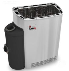 Well Solutions Saunaofen 3,6KW 230V Sauna Ofen mit seitliche Steuerung (links oder rechts) u... -