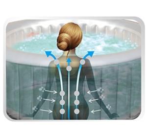 Whirlpool In-Outdoor Pool Bubble Spa Wellness Massage Heizung aufblasbar 185x185cm 6 Personen 132 Massagedüsen digitale Steuerung Soho -
