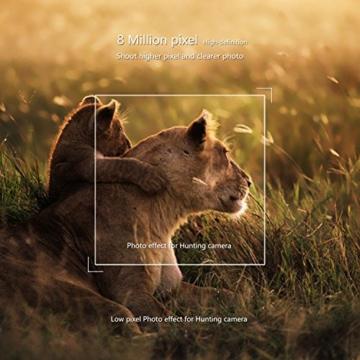 Wildkamera LESHP Jagdkamera 70 Grad Weitwinkel Nachtsicht Funktion 2.4