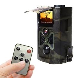 Wildkamera, TOGUARD® H50 12MP 1080P Full HD Jagdkamera 120°Breite Vision Infrarote 20m Nachtsicht  mit Fernbedienung Überwachungskamera -