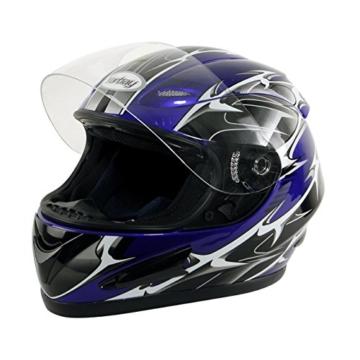 Yorbay Motorradhelm Integralhelm Sturzhelm Helm mit verschienden Typen & in unterschiedlichen Größen (Blau, XL) -
