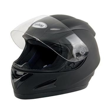 Yorbay Motorradhelm Integralhelm Sturzhelm Helm mit verschienden Typen & in unterschiedlichen Größen (Schwarz matt, S) -