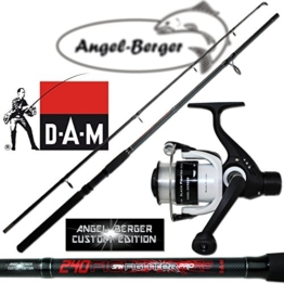 Angel Berger Angelset Steckrute und Rolle (1.80m Rute + 120 RD Rolle) -