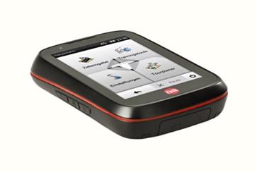 Falk Fahrrad GPS-Navigationsgerät Tiger Geo, kapazitiver Touchscreen, 25 Länder, integrierte Fahrradhalterung, schwarz/rot, 240035 -