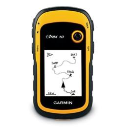 """Garmin eTrex 10 GPS Handgerät - 2,2"""" Touchdisplay, Batterielaufzeit bis 25 Std., großer interner Speicher -"""