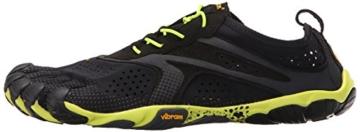 Vibram FiveFingers V-RUN, Herren Laufschuhe, Mehrfarbig (Black/yellow), 43 EU -